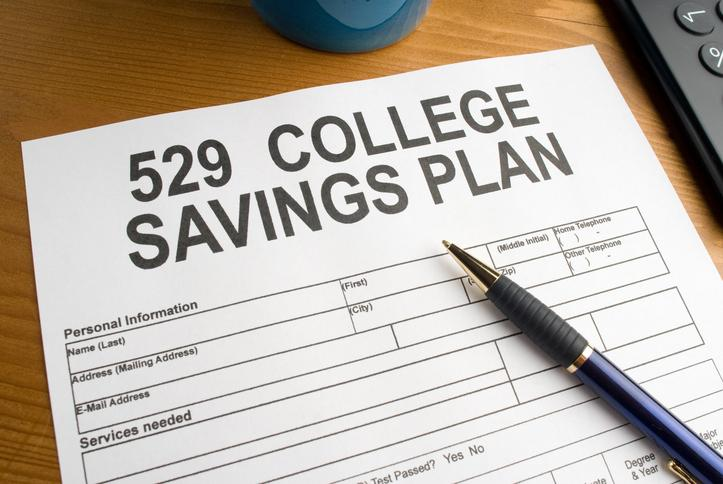 529 college saving plan on desk