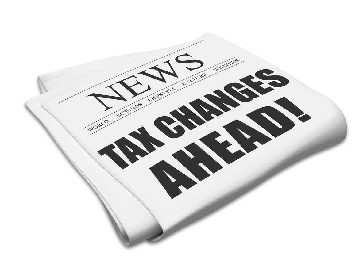 Tax changes newspaper
