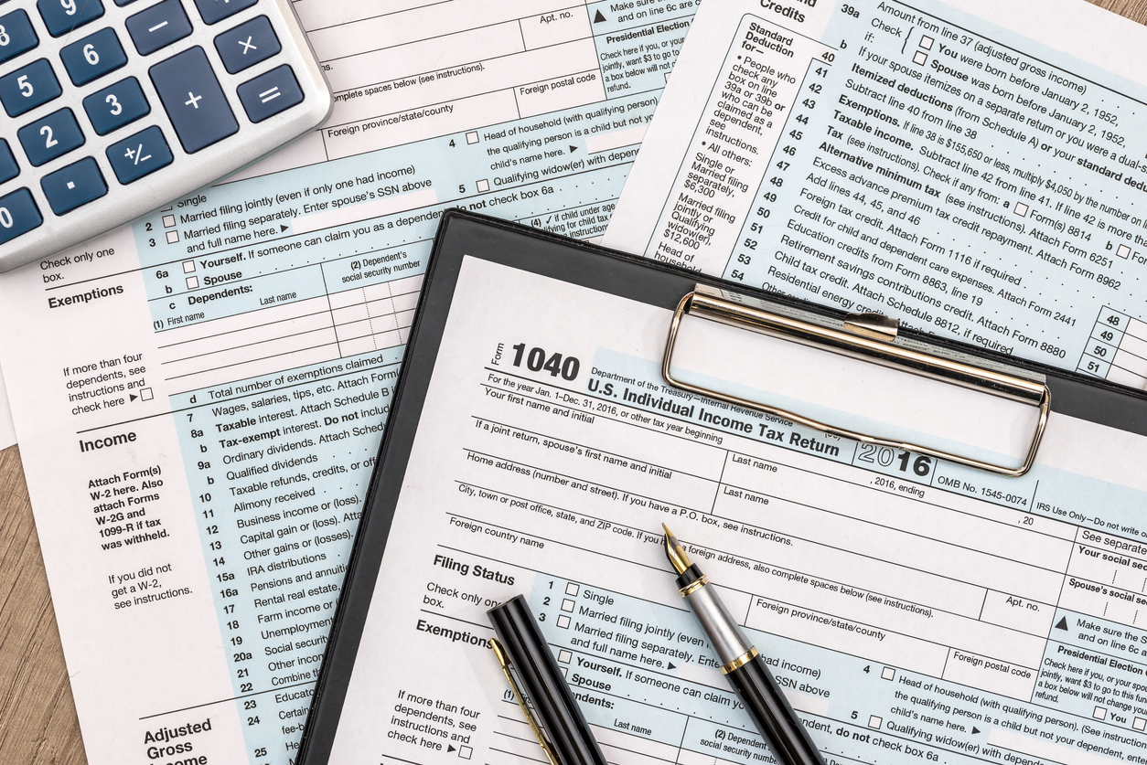 tax form for the 2020 tax season