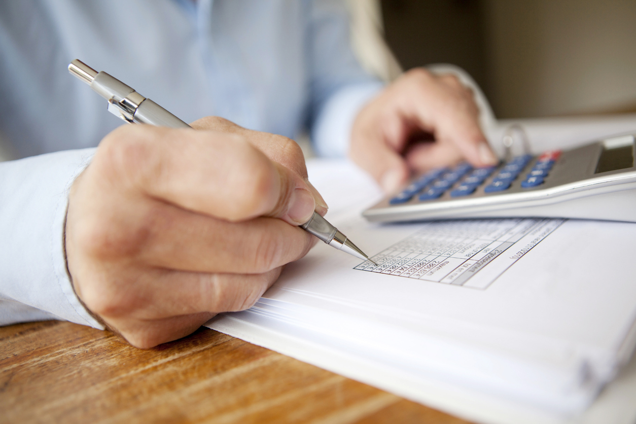 calculating finances on a balance sheet